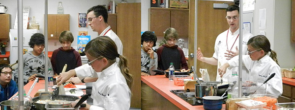 Granville students learning how to cook