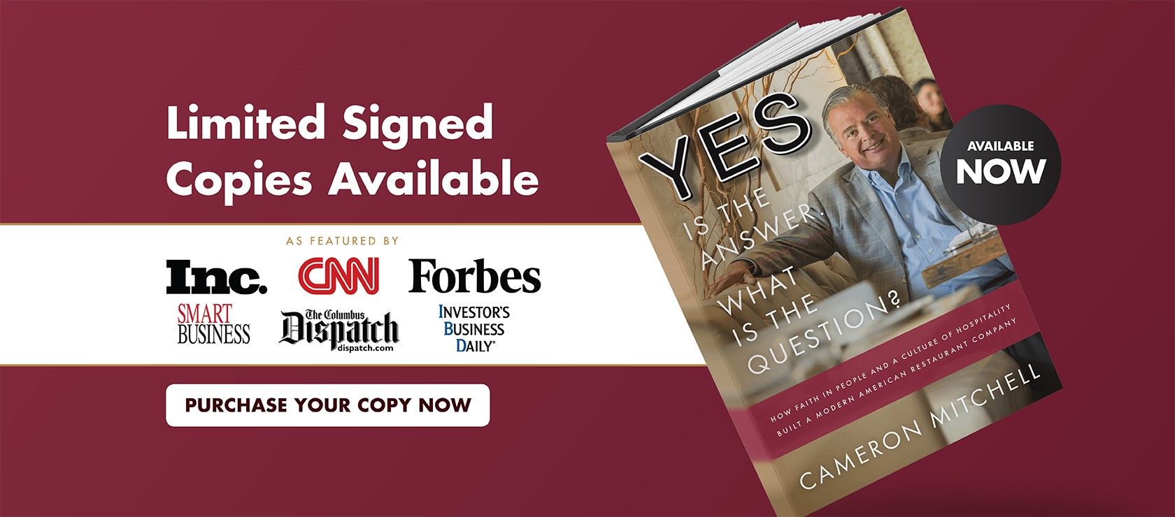 Purchase your copy now of Cameron's book. Limited signed copies available.