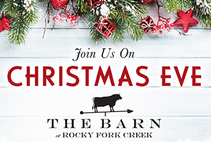 Join us for Christmas Eve! We will be open 3-8 p.m. with our dinner and holiday prix-fixe menu offering.