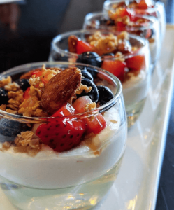 fruit and yogurt parfait