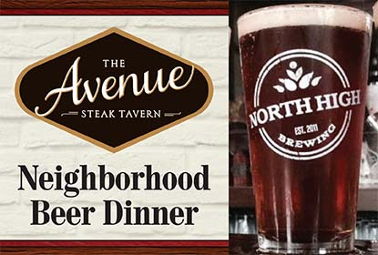 Join us May 7th for an exclusive beer dinner featuring North High Brewing.