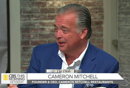 Watch Our Founder & CEO, Cameron Mitchell, on CBS the Dish!
