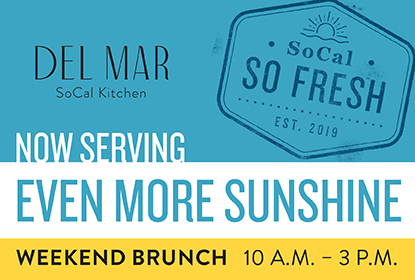 Join us for weekend brunch from <br>10 am - 3 pm!</br>