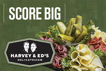 Update your tailgate with Harvey & Ed's Deli platters.