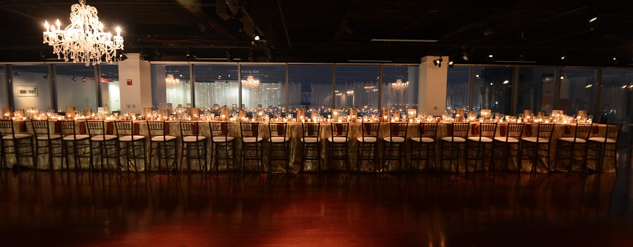 Table Setting for private event at night