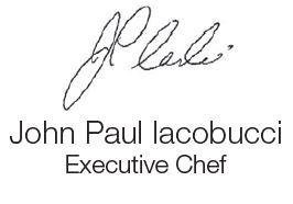 Chef John Iacobucci's signature
