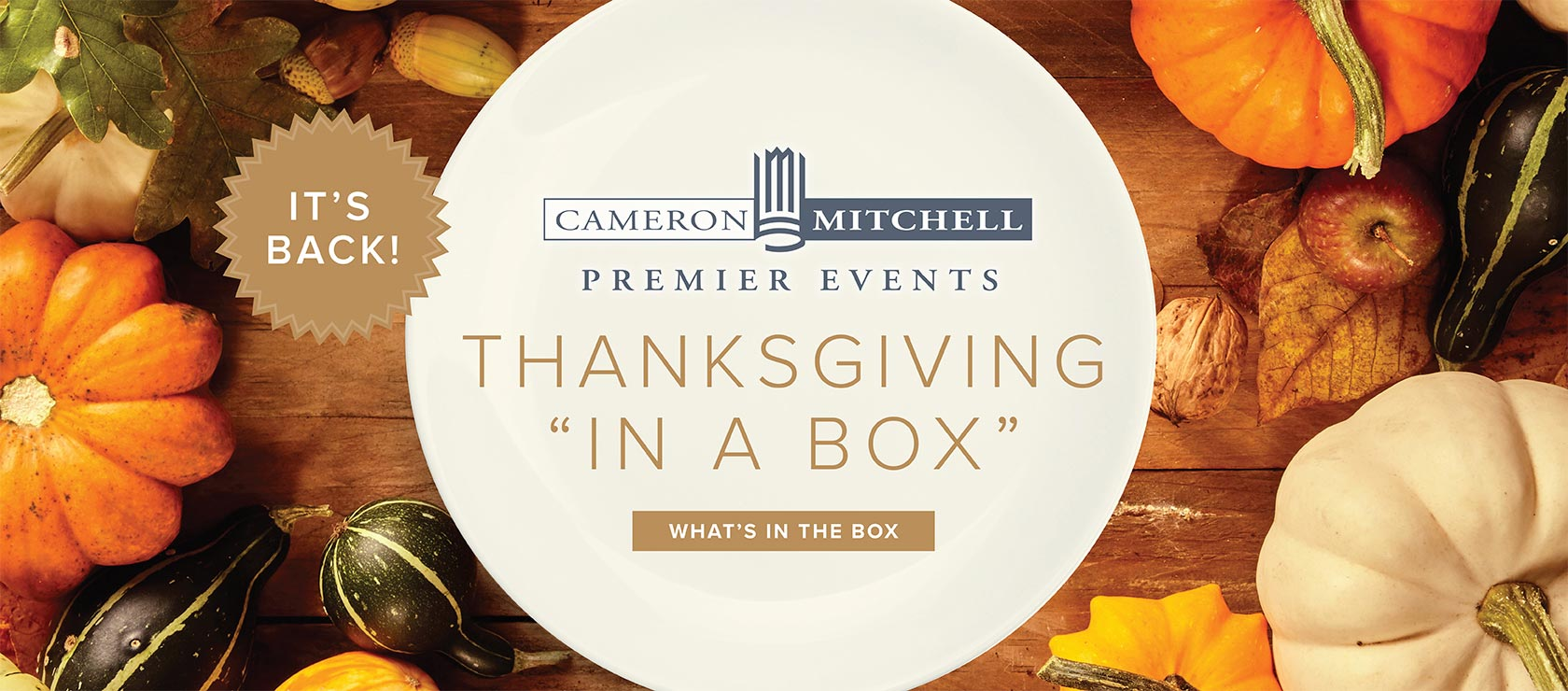 It's Back! Thanksgiving in a Box!