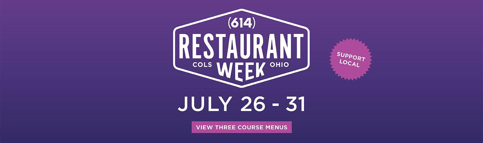 614 Restaurant Week July 26 - 31
