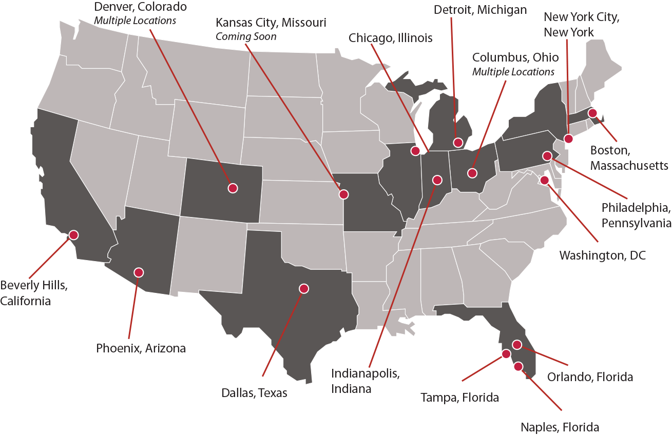 Map of CMR Locations