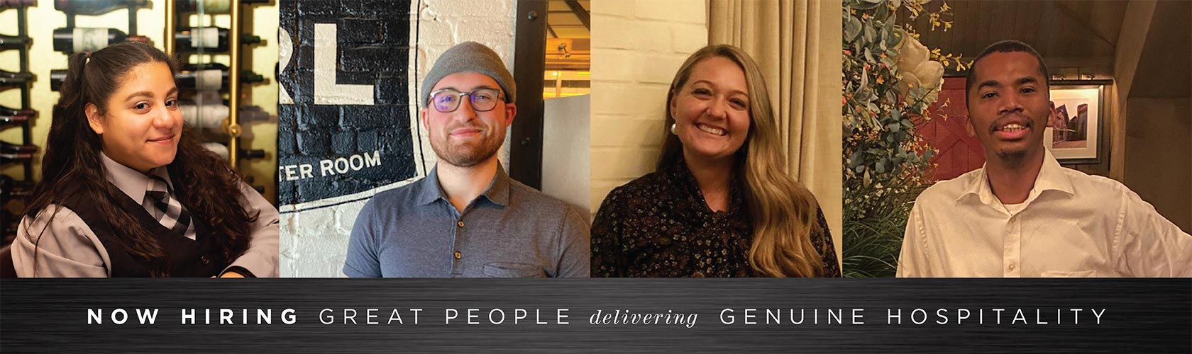 Now Hiring Great People with Genuine Hospitality