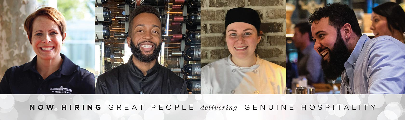 Now Hiring Great People Delivering Genuine Hospitality