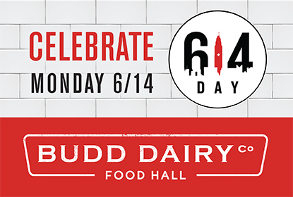 Celebrate 614 Day, Monday June 14th at Budd Dairy Food Hall