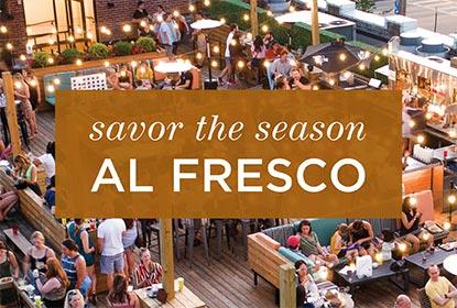 Savor the season al fresco with outdoor dining